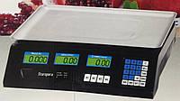 Торговые настольные весы Staropera 50 кг со счетчиком цены, 6V 4A