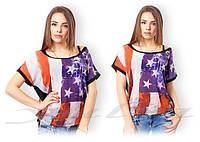 Женская стильная летняя  футболка  пр-во Турция. Арт-8121/39