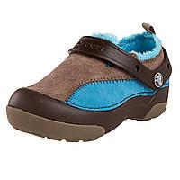 Туфли детские слипоны Кроксы замшевые утепленные / Crocs Kids' Dawson Slip-on Lined Sneaker