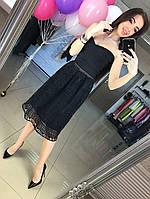 Женское платье утяжка с ажуром  АП-194