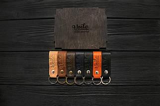 Брелок для ключей светло-коричневый ручной работы VOILE vl-kch1-lbrn, фото 2