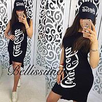 Короткое платье с принтом Coca cola