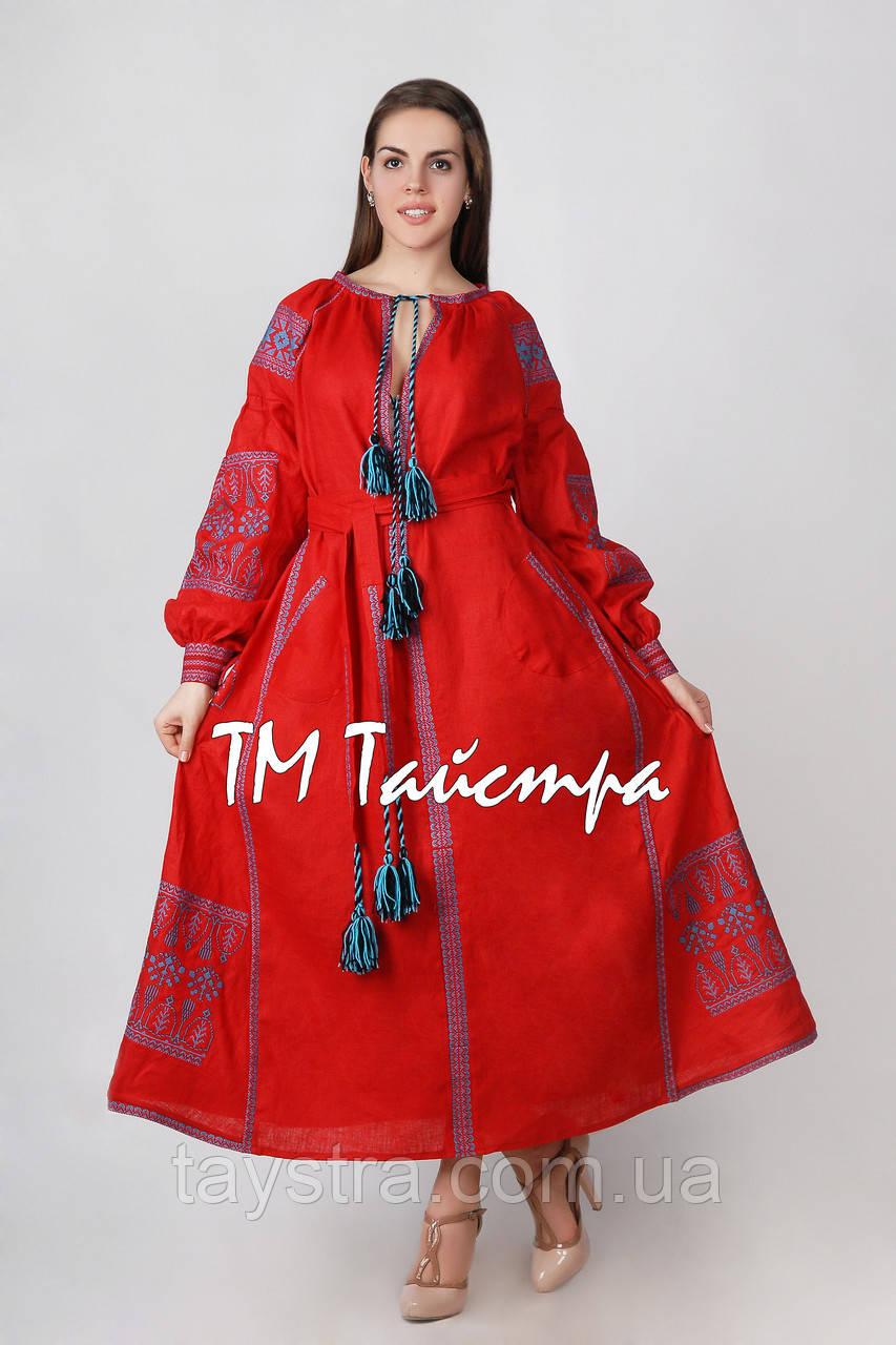 Вышитое платье  бохо вышиванка лен, этно, бохо-стиль, вишите плаття вишиванка, Bohemian,стиль Вита Кин