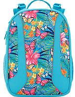 Каркасный рюкзак с цветочным принтом для девочки 16 л Kite K17-703M-2 Голубой