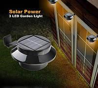 Светильник с датчиком света и солнечной панель для наружного освещения