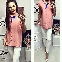 Рубашка короткий рукав (781) лепесточек цвет нежно розовый, фото 1