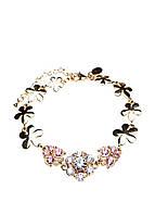 Нежный браслет Honey (Хани) из меди, покрытой золотом 24 карата, вставки – хрусталь, 30135