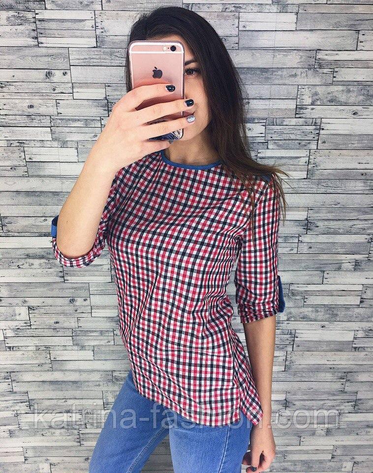 Женская модная кофточка в клетку (2 цвета)