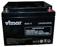 Аккумулятор Vimar BG25-12 12В 25Ah, гелевый (Gel) для ИБП