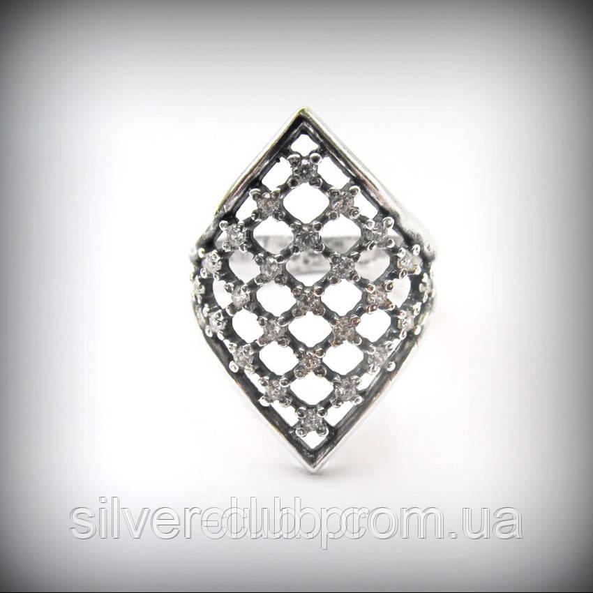 14f2f08d81fb 1015 Серебряное кольцо Ромб 925 пробы из ювелирного комплекта ...