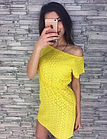 Женское модное платье-прошва (4 цвета)