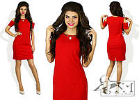 Женское короткое платье. Красное.