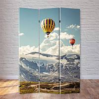 """Ширма """"Воздушные шары над горами"""""""