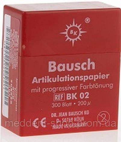 Артикуляционная бумага Baush (Бауш ) Красная .Пластины. 200 шт. 40 мк, фото 2