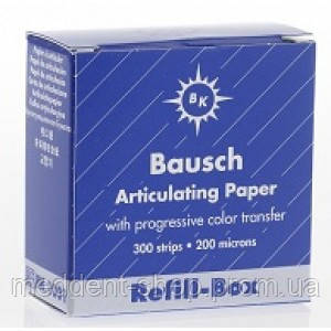 Артикуляционная бумага Baush (Бауш ) Синяя .Пластины. 200 шт. 40 мк, фото 2