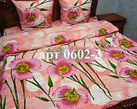 Комплект постельного БЯЗЬ оптом и в розницу/ Незабудка в розовых оттенках 0602-3