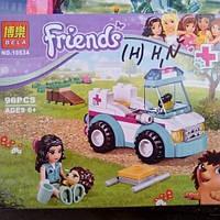 """Конструктор Friends Bela 10534 """"Ветеринарная скорая помощь"""" 96 деталей."""