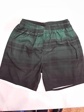 Шорты мужские  короткие 13099 Клетка темно-зеленые на размеры 44-46., фото 2