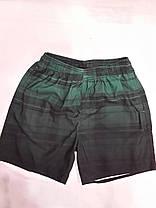 Шорты мужские  короткие 13099 Клетка темно-зеленые на размеры 44-46., фото 3