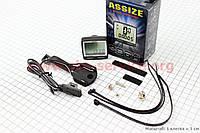 Вело-компьютер 11-функций, проводной, черный AS-200