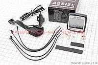 Вело-компьютер 11-функций, проводной, черный AS-880