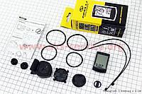 Вело-компьютер 12-функций, беспроводной, влагозащитный, SCC-1012