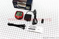 Вело-компьютер 15-функций, проводной, красный YS-468B