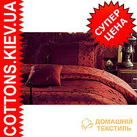 Комплект двуспального евро постельного белья сатин-жаккард ТМ Linda