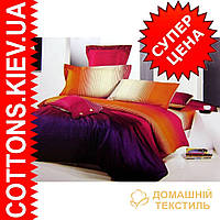 Комплект семейного постельного белья с мако-сатина Радуга