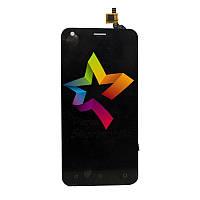 Дисплей для мобильного телефона Fly FS454, черный, с тачскрином