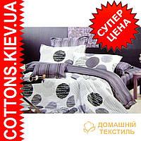 Комплект семейного постельного белья с мако-сатина Горох