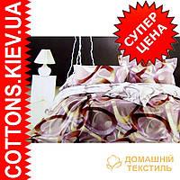 Комплект семейного постельного белья с мако-сатина Кольца