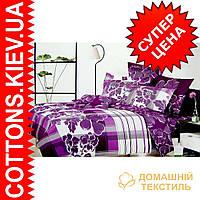 Комплект семейного постельного белья с мако-сатина Пион
