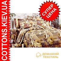 Комплект семейного постельного белья с мако-сатина Тигровая роза