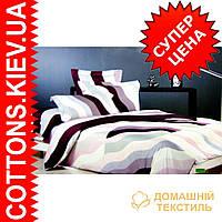 Комплект семейного постельного белья с мако-сатина Волна