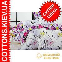 Комплект семейного постельного белья с мако-сатина Азбука