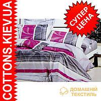 Комплект семейного постельного белья с мако-сатина Утренняя