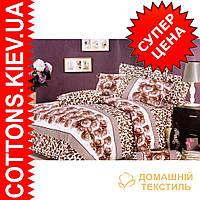 Полуторное постельное белье ТМ Kessar Polo (сатин) Пралине