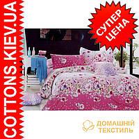 Комплект полуторного сатинового постельного белья ТМ Queensilk 1921