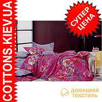 Комплект двуспального евро сатинового постельного белья ТМ Queensilk 1905