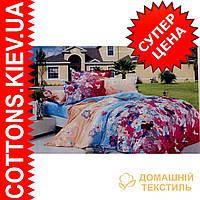 Комплект двуспального евро сатинового постельного белья ТМ Queensilk 1941