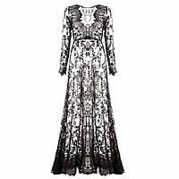 Женское длинное кружевное платье/накидка/верх для праздника/дома/пляж
