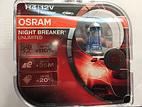 Лампы Автолампы Osram H4 Night Breaker Unlimited.+110%