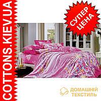 Комплект двуспального евро сатинового постельного белья ТМ Queensilk 1936