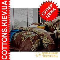 Комплект полуторного постельного белья из египетского хлопка 8000