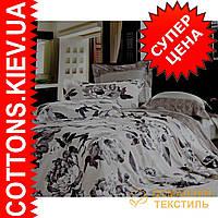 Комплект полуторного постельного белья из египетского хлопка 3101