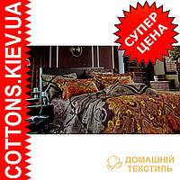 Комплект полуторного постельного белья из египетского хлопка 0076