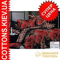 Комплект двуспального постельного белья 3D (коттон) Роза крапинка