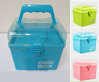 "Шкатулка для рукоделия ""Storage BOX"". Бокс - Органайзер для хранения мелочей"
