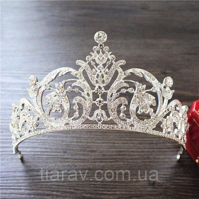Свадебная диадема МОНИКА корона тиара для волос, украшения свадебные диадемы